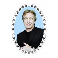 Овал цветной 13х18 см, Портрет с вензелем- арт #11002