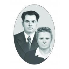 Ритуальный овал Ч/Б с двойным портретом