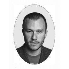 Ритуальный овал Ч/Б с портретом