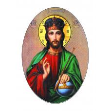 Овал цветной 13х18 см, Иисус- арт #12004
