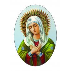 Ритуальный овал цветной с изображением Мадонны.