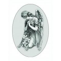 Овал Ч/Б 13х18 см, Ангел - арт #13007